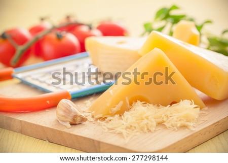 Cheese recipes - stock photo