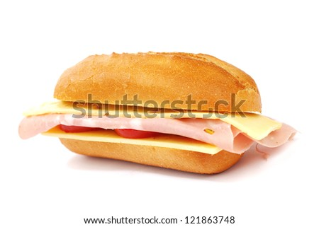 cheese sandwich isolated - stock photo