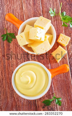 cheese sauce - stock photo