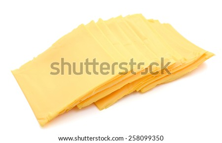 cheese slices American on white background