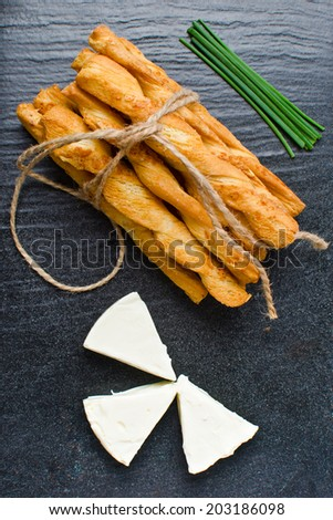cheese twists  - stock photo