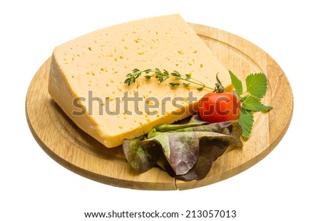 Cheese with thyme and tomato