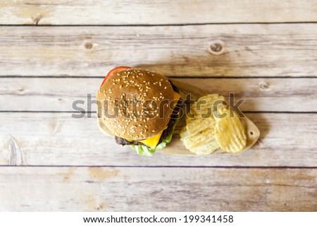 Cheeseburger - stock photo