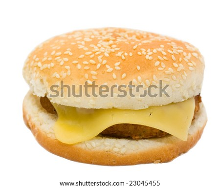 cheeseburger, isolated