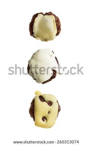 Cheeseburger Patties - stock photo