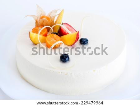 Cheesecake cake - stock photo