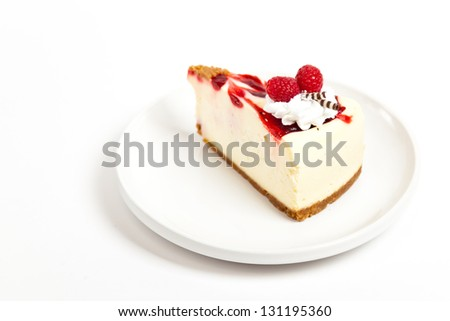 Cheesecake with Raspberry - stock photo