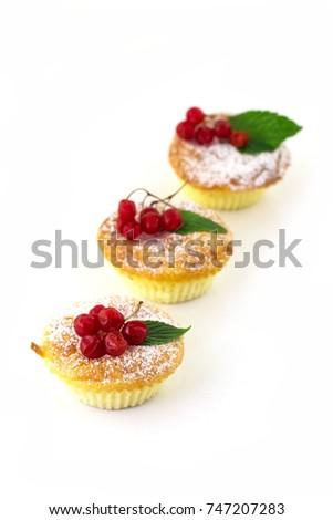 Cheesecakes from cottage cheese in the oven. Useful breakfast. White background