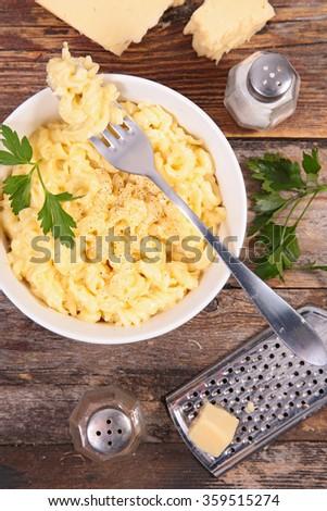 cheesy pasta - stock photo