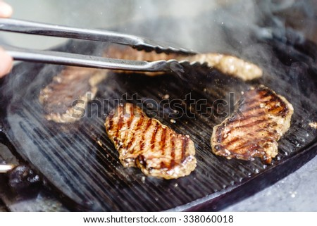 chef at work - stock photo