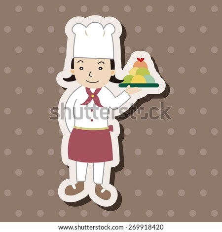 chef, cartoon stickers icon