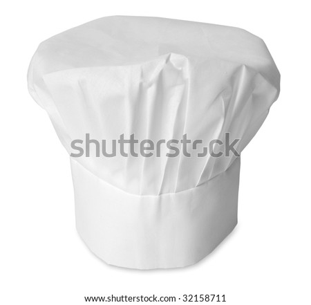 chef hat on a white background