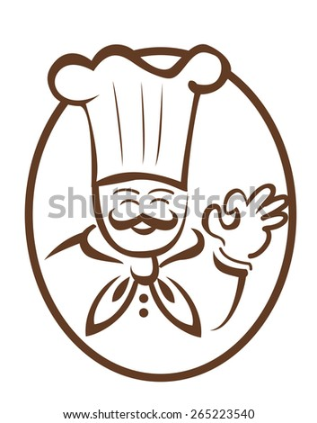 Chef man - stock photo