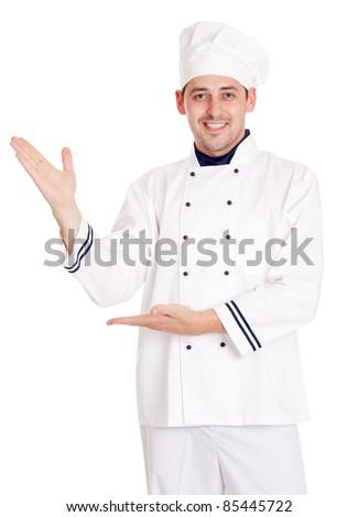 Chef man. - stock photo