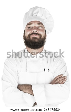 Chef on white background - stock photo