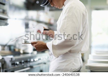 Chef Preparing for Cooking - stock photo
