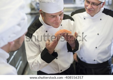 Chef recognizes freshness of the fish
