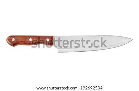 Chef's Knife Isolated on White Background - stock photo