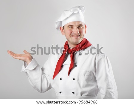 Chef showing hand