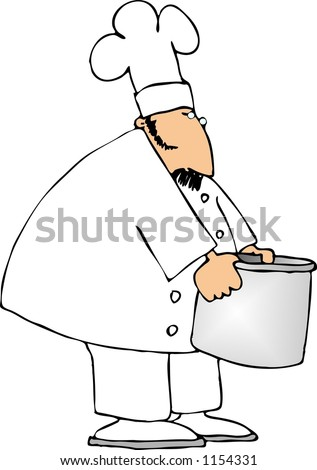 Chef with a large pot