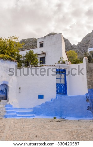 Chefchaouen, small town in northwest Morocco famous by its blue buildings
