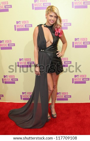 Chelsea Chanel Dudley at the 2012 Video Music Awards Arrivals, Staples Center, Los Angeles, CA 09-06-12 - stock photo