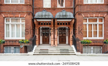 Chelsea elegant apartment building. London, United Kingdom. - stock photo
