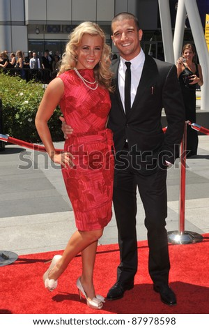 Chelsie Hightower & Mark Ballas at the 2010 Creative Arts Emmy Awards at the Nokia Theatre L.A. Live. August 21, 2010  Los Angeles, CA Picture: Paul Smith / Featureflash