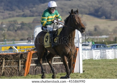 CHELTENHAM, GLOUCS; JAN 30:  Jockey A P (Tony) McCoy takes Good Lord over hurdles in the first race of festival trials day at Cheltenham Racecourse, UK, January 30, 2010 in Cheltenham, Gloucestershire