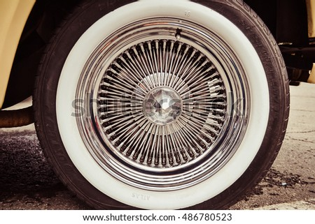 CHELYABINSK, RUSSIA, September 10, 2016 - Exhibition of Retro cars: Wheel