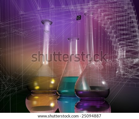 Chemical devices on a mirror surface