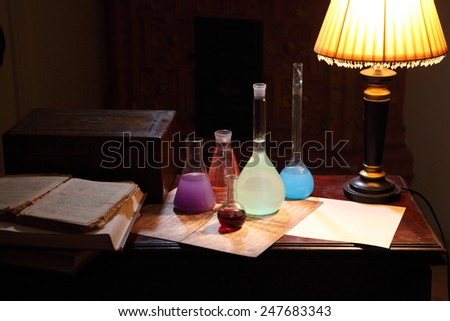 Chemical experiments in an interior of 19 centuries