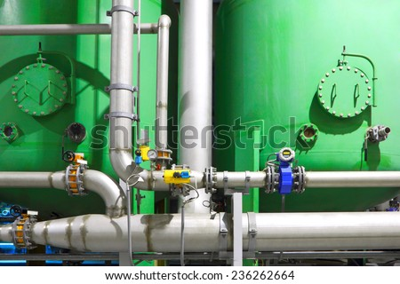Chemical factory business - stock photo
