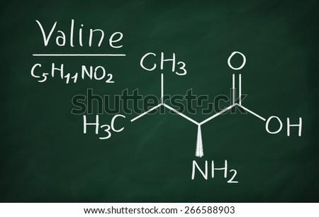 Valine structural formula