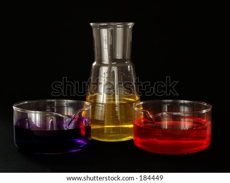 Chemical glass isolated on black