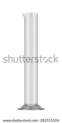 chemical glass isolated on white - stock photo