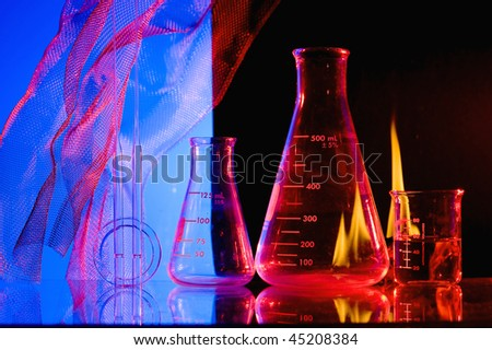 Chemical glass with  Laboratory experiment