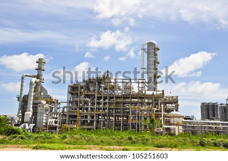 "Chemical industrial with light of blue sky ""Map ta put , Thailand"""