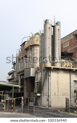 chemical industry silo inside factory