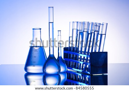 Chemical lab with glass tubing
