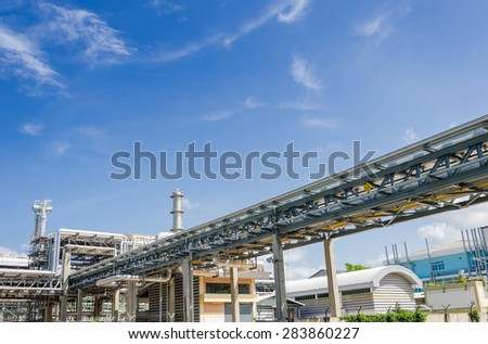 Chemical pipelines in Petrochemical industrial