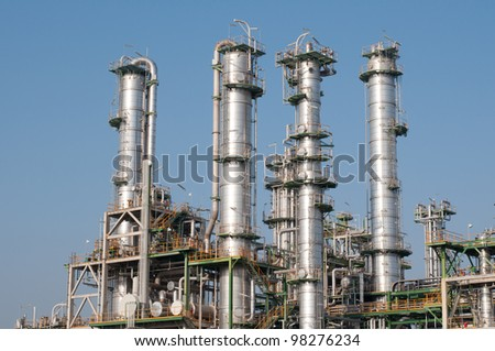 Chemical plant  in sunny day in Thailand - stock photo