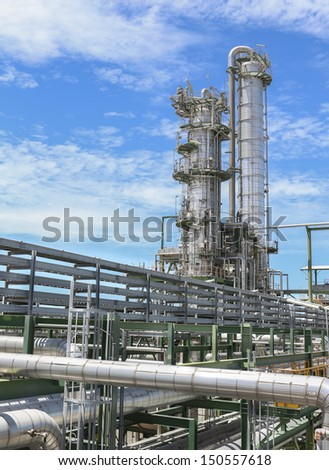 Chemical plant on day time - stock photo