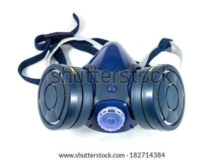 Chemical protective mask isolated image - stock photo