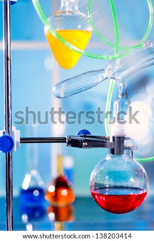 Chemical  setup  in a laboratory - stock photo