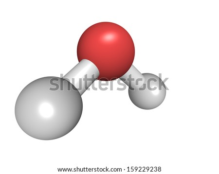 Chemical structure of a water  H2o 3d Structure