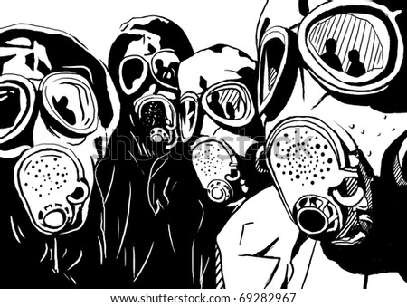 chemical suit - stock photo