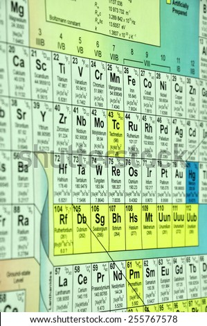 Chemical Table - stock photo