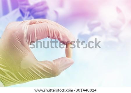chemical test , medicine pharmaceutical background - stock photo