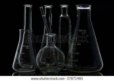 Chemical Test Tube . Chemical experiment with Laboratory glass.